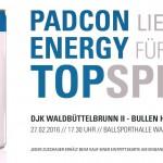 Danke an PADCON GmbH für den Energy Drink fürs Topspiel