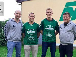 Auf dem Bild (v.l.): Trainer Martin Keupp, Julian Enzfelder, Kevin Kunzmann und Co-Trainer Klaus Beck