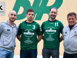 Auf dem Bild (v.l.): Trainer Martin Keupp, Philipp Heuer, Florian Nöth und Co-Trainer Klaus Beck