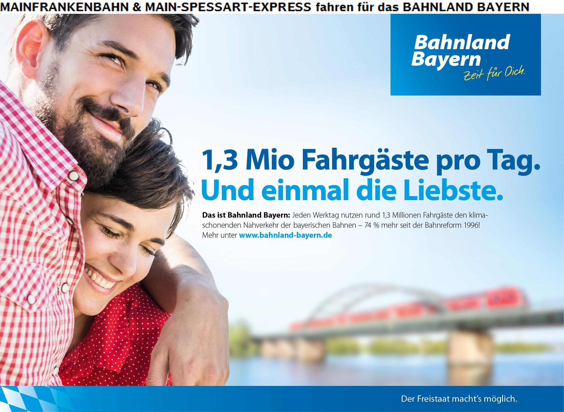 MAINFRANKENBAHN & MAIN-SPESSART-EXPRESS fahren für das BAHNLAND BAYERN