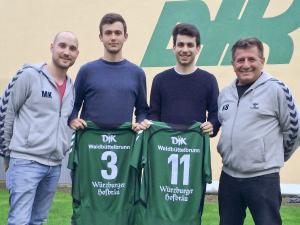 Auf dem Bild (v.l.): Trainer Martin Keupp, Mark Schöler, Fabian Gowor und Co-Trainer Klaus Beck