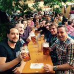 2. Männermannschaft auf dem Kiliani Volksfest 2016 in Würzburg