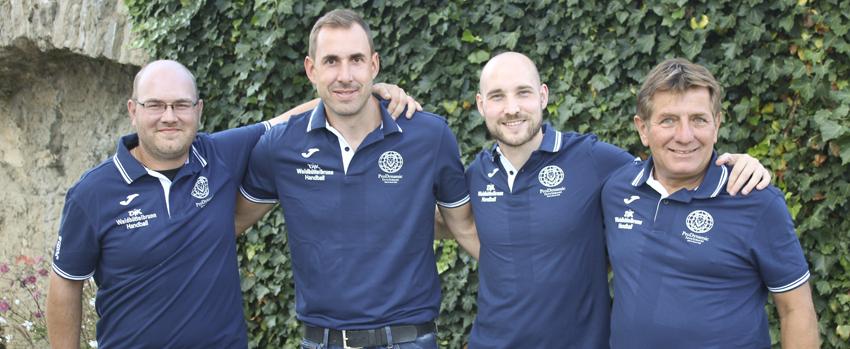 Trainer- und Betreuerstab: Christoph Brand (Zeitnehmer), Sebastian Utz (Betreuer), Martin Keupp (Trainer), Klaus Beck (Co-Trainer)
