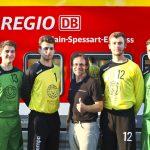 2. Herrenmannschaft der DjK Waldbüttelbrunn und die Mainfrankenbahn + Main-Spessart-Express.