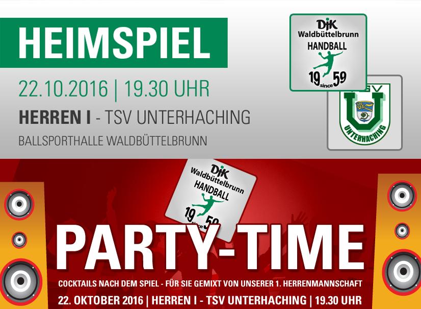 Party Time nach dem Bayernliga Spiel gegen den TSV Unterhaching
