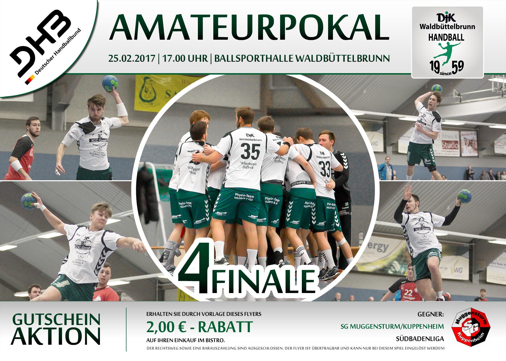 Flyer Amateurpokal Viertelfinale